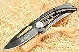 Sanjia 8007Taschenmesser, Mountain Wolf, schwarz, Camping, Werkzeug, Klappmesser