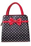 Banned Apparel Vintage 50s Rockabilly Carla gepunktet Handtasche - Rot, Einheitsgröße, Einheitsgröße