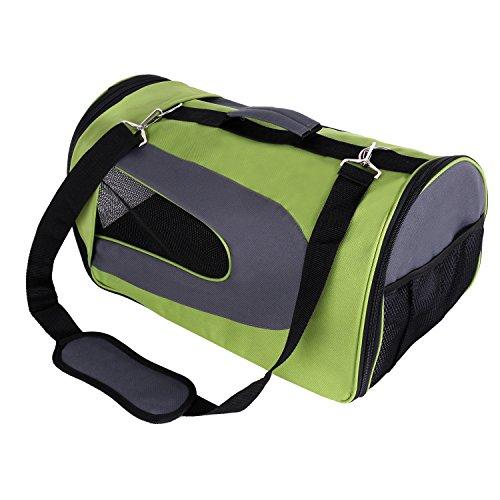 Amzdeal Hundetragetasche, Tragetasche Flugtasche Transporttasche Reisetasche Hund oder Katze, grün