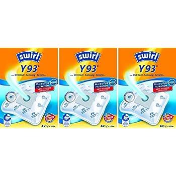 Amazon.de: Swirl Y 93 MicroPor Plus Staubsaugerbeutel für
