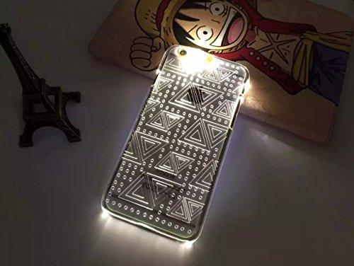 Lumière Clignotante Motif Transparent Coque rigide pour Apple iPhone 5/5S & 6/6S, Australie, Apple iPhone 5/5s TRIANGLES