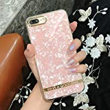SLONG Compatibile con iPhone X, XS, XR, XS Max, 7/8 Plus Cassa del Telefono, Custodia Protettiva, Phnom Penh epossidico Marmo Design, Ragazza,Pink,IphoneX