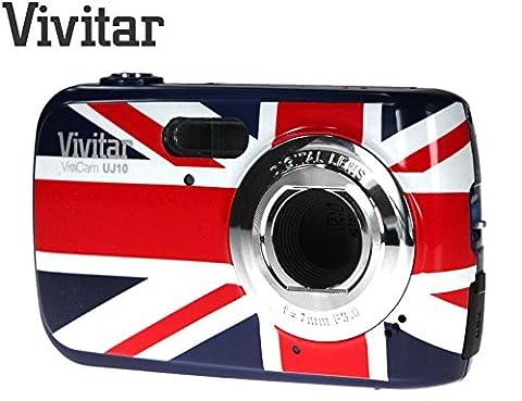 Compact Digital Camera Union Jack, UK Flag Vivitar Vivicam UJ10 10MP (10 Megapixel, 4x Zoom) (British Flag)