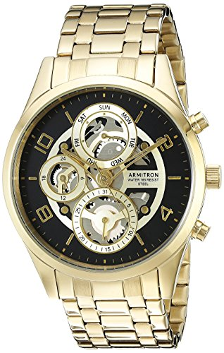armitron-da-uomo-20-5047bkgp-multi-function-orologio-skeleton-dial-braccialetto-tonalita-colore-oro