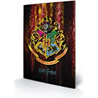 Pyramid International SW11029P Harry Potter Hogwarts Crest - Mural impreso, fabricado en madera de abeto, diseño de escudo de Hogwarts de Harry Potter
