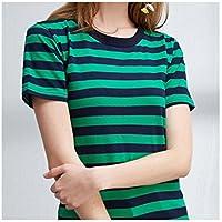 TAIDUJUEDINGYIQIE Camiseta de Manga Corta para Mujer Vestido Slim Summer, Verde, XL