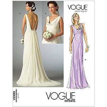 42948bee89a4 2965- Vogue modello di cucitura per rendere abito da sposa (taglie 42