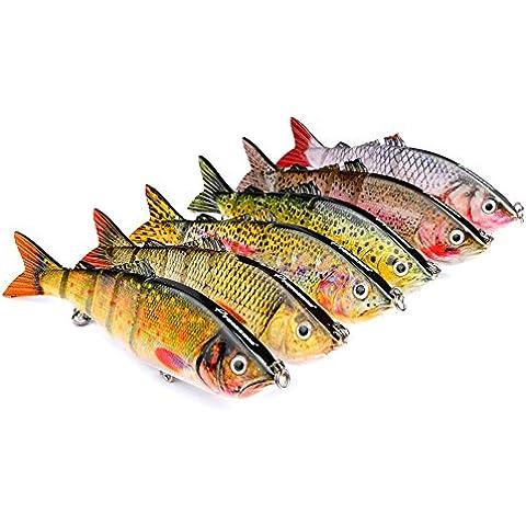 Ucsports classico 6multi-sezione esche da pesca Kit, 19 - Sezione Kit