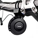 Elektrische Fahrradklingel USB Wiederaufladbare Fahrrad Elektrisches Horn Glocke 120 dB Fahrradglocken Laut Klingel Wasserdicht Unsichtbar Fahrradhorn Zubehör für Mountainbike Radfahren und Rennräder (Schwarz)