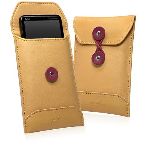 BoxWave Manila Motorola Droid RAZR Leder Umschlag-Hochwertigem Synthetik Leder mit Sleeve, Einzigartige Umschlag Tasche/Tasche Design-Motorola Droid RAZR Fällen und Abdeckungen - Razr Fall Motorola