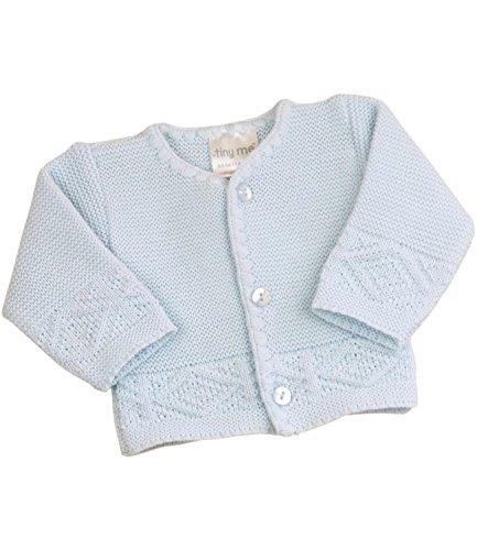BabyPrem Frühchen Strickjacke Jungen Mädchen Rosa Blau 38-50cm BLAU P3
