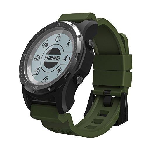 KOKR Professional Fitness Tracker, Activité Tracker, Smart Bracelet avec GPS Surveillance du Rythme Cardiaque De Natation IP68 Étanche Bracelet De Santé KOKR