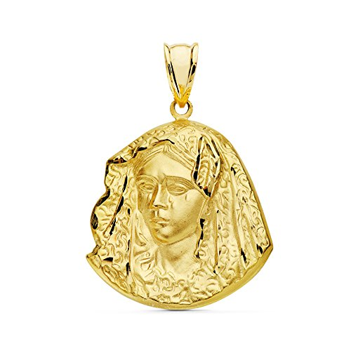 Alda Joyeros Medalla Silueta Virgen de la Macarena Oro de 18 ktes