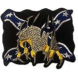 Parches - águila bandera - negro - 8,5x6,6cm - termoadhesivos bordados aplique para ropa