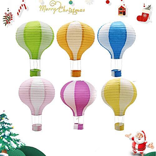 IMMEK Papierlaterne,12 Zoll hängenden Heißluftballon für Partydekorationen, 6Pcs (Mexikanische Weihnachten Lichter)