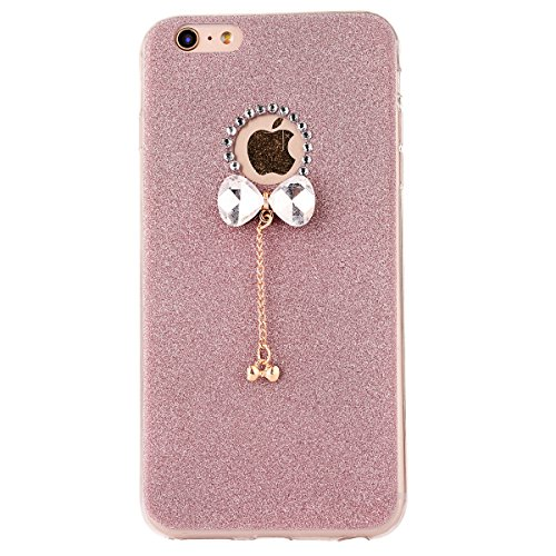 "iPhone 5s Handyhülle, iPhone SE Tasche, CLTPY Elegante Sparkly Series Slim Fit Silikon Cover, Kreativ Bling Diamant Bowknot Design Abdeckung für 4.0"" Apple iPhone 5/5s/SE + 1 x Stift - Grün 1 Rose Gold 1"