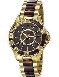 Pierre Cardin Pigalle - Reloj de cuarzo para mujer, color dorado/marrón/dorado