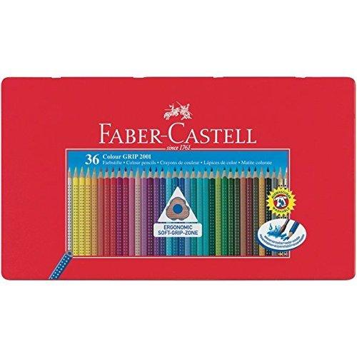 Faber Castell 112435 - Farbstifte Colour GRIP 2001, 36er Metalletui (3er Spar-Pack)