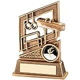 Gimnasia trofeo - Características de diseño aros, bóveda, barras asimétricas - 5,25 pulgada