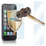 2x OneFlow 9H Panzerfolie für iPhone 5S Panzerglas Matt Glasfolie [Tempered Glass] Screen protector Displayschutz-Folie für iPhone 5/5S/SE Schutzfolie Glas
