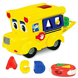 Learning Journey The 104699 Remote Control Shape Sorter Letter Land School Bus