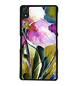 Flowers Painting 2D Hard Polycarbonate Designer Back Case Cover for Sony Xperia Z3 :: Sony Xperia Z3 Dual :: Sony Xperia Z3 D6633