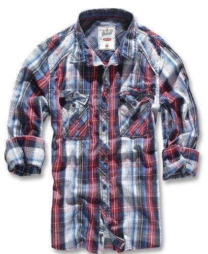 Brandit Central City Camicia blu/bianco XL