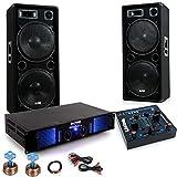 etc-shop 3000W PA Party Fastnacht Karneval Musikanlage Boxen Verstärker Lautsprecher DJ-Fasching