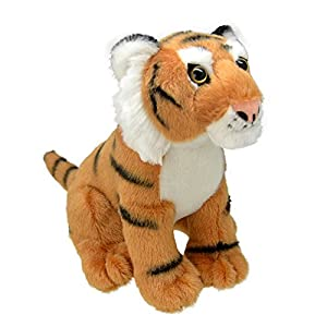 Wild Planet- All About Nature-26cm Tigre-Hecho a Mano, Peluche Realistico, (K8231)