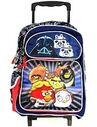 Full Size Angry Birds Pajaros Enojados Star Wars Rolling Mochila - Full Size Maleta con Ruedas