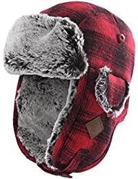9e77a230048a2 Unisex Trooper Trapper Hat Warm Thick Faux Fur Mens Winter Hats for Womens  Earflaps Hunting Hat
