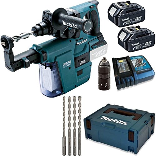Preisvergleich Produktbild Makita Akku Kombihammer - Bohrhammer - DHR243RTJV - 18V - Bohrer 6 8 10 12 mm SDS Plus 7