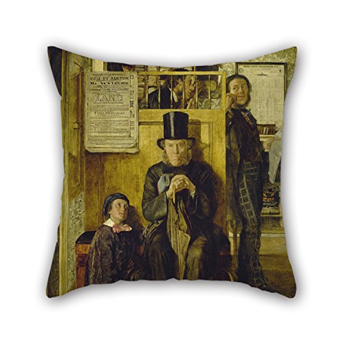 Elegancebeauty 18 X 18 Inches / 45 By 45 Cm Oil Painting James Campbell - Waiting For Legal Advice Pillow Cases ,2 Sides Ornament And Gift To Boys,shop,deck Chair,home Office,office,lover