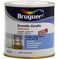 Bruguer 5160660 - Esmalte acrílico satinado laca Acrylic BLANCO PERMANENTE