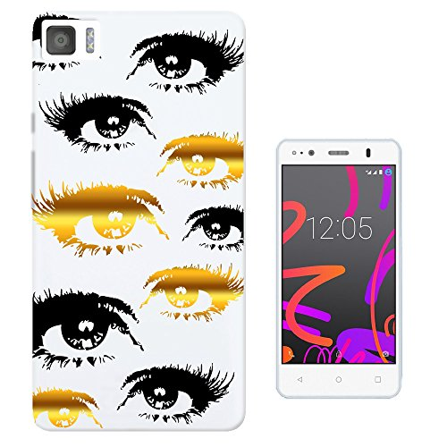 c0493-eyes-black-gold-clear-background-design-bq-aquaris-m45-fashion-trend-protecteur-coque-gel-rubb