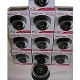 First 10x Dummy Überwachungskamera Video Kamera wireless Attrappe in-/outdoor LED