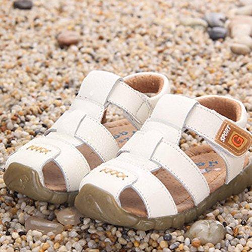 Sandale Fermée Pour Garçons - Antidérapantes Chaussures de Marche Bébé Blanc