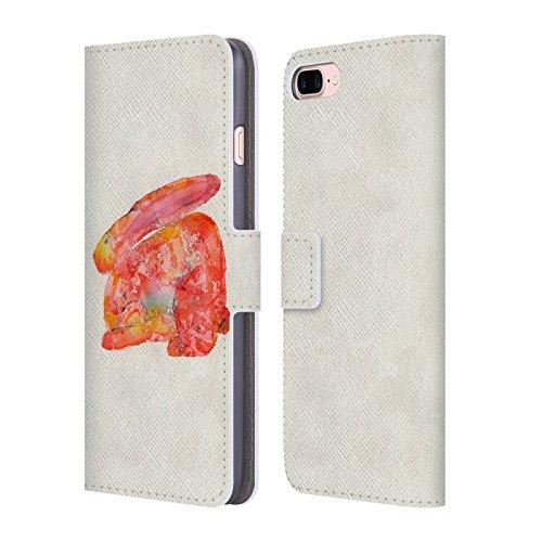 Ufficiale Wyanne La Mucca Sulla Luna Animali 2 Cover a portafoglio in pelle per Apple iPhone 5 / 5s / SE Coniglio Rosso
