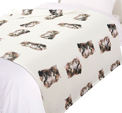 dreamscene-cat-print-throw-blanket-animal-print-bedspread-beige-white