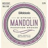 D'Addario EJ70 - Set de cuerdas para mandolina, mandola, etc. (con bola al final)