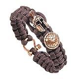 Unisex Lässig Paracord Armband, Kreative Notfall Sport Geflochtenes Bracelet/Freizeit Helm + Schild Design Handgelenk Dekor Kit für Männer