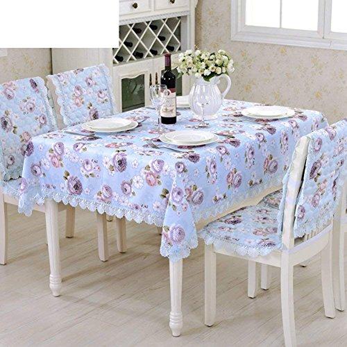DHG Garten Tischdecke Stoff Tischdecke Längliche Tischdecke Spitze Tischdecke,B, 150x220cm (59x87inch) -