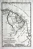 La Guyane Francoise - French Guiana Französisch-Guayana America Kupferstich Karte map engraving -