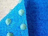 Kunstrasen Comfort (7€/m²) mit Noppen blau 400 x 400 cm