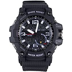 Adixion Sports Resin Strap Black Dial Waterproof Analog Watch-For Boys & Girls