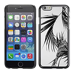 Omega Covers - Snap on Hard Back Case Cover Shell FOR Apple Iphone 6 Plus / 6S Plus ( 5.5 ) - Palm Leaves Black White Miami California