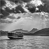 Poster 90 x 90 cm: Laos - Mekong von Sebastian Rost -