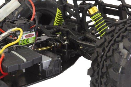 Jamara 503851 - Tiger Monstertruck 1:10 4WD NiMh 2.4GHz - Allrad, Elektroantrieb, Akku, 35Kmh, Aluchassis, spritzwasserfest, Öldruckstoßdämpfer, Kugellager, Fahrwerk einstellbar, fahrfertig - 7