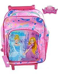 4167564a88 TrAdE Shop Traesio - Zaino Trolley Principesse Disney Princess Asilo Scuola  Bambine Viaggi Alto 30 CM
