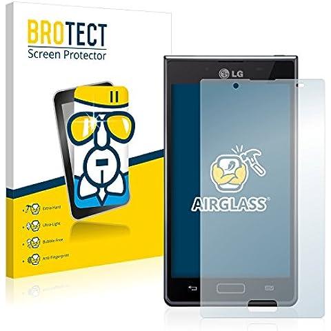 BROTECT AirGlass Protector Pantalla Cristal Flexible para LG Electronics P700 Optimus L7 Protector Cristal Vidrio - Extra-Duro, Ultra-Ligero